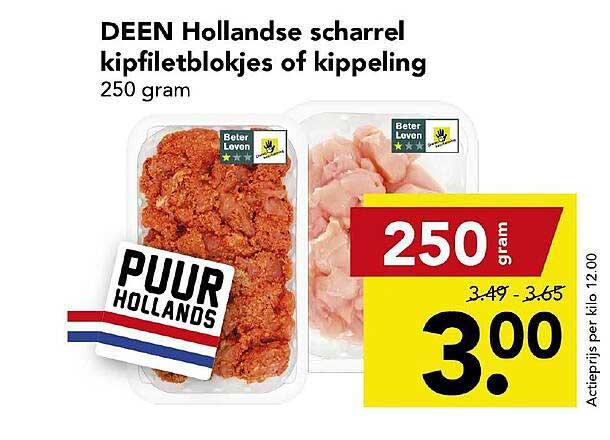 DEEN Deen Hollandse Scharrel Kipfiletblokjes Of Kippeling