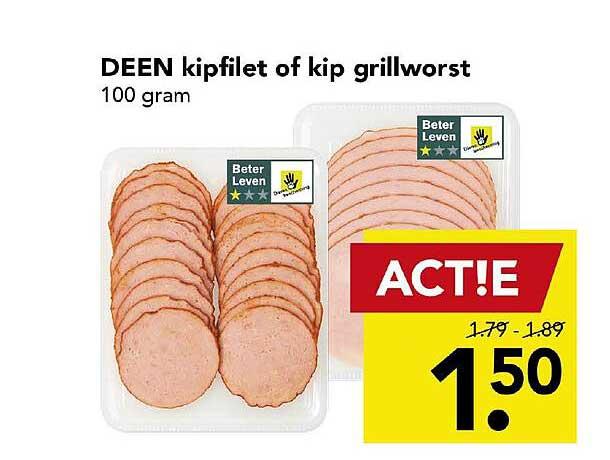 DEEN Deen Kipfilet Of Kip Grillworst