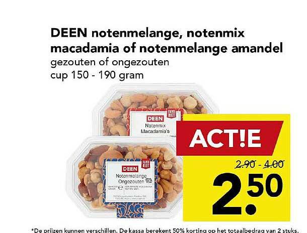 DEEN Deen Notenmelange, Notenmix Macadamia Of Notenmelange Amandel