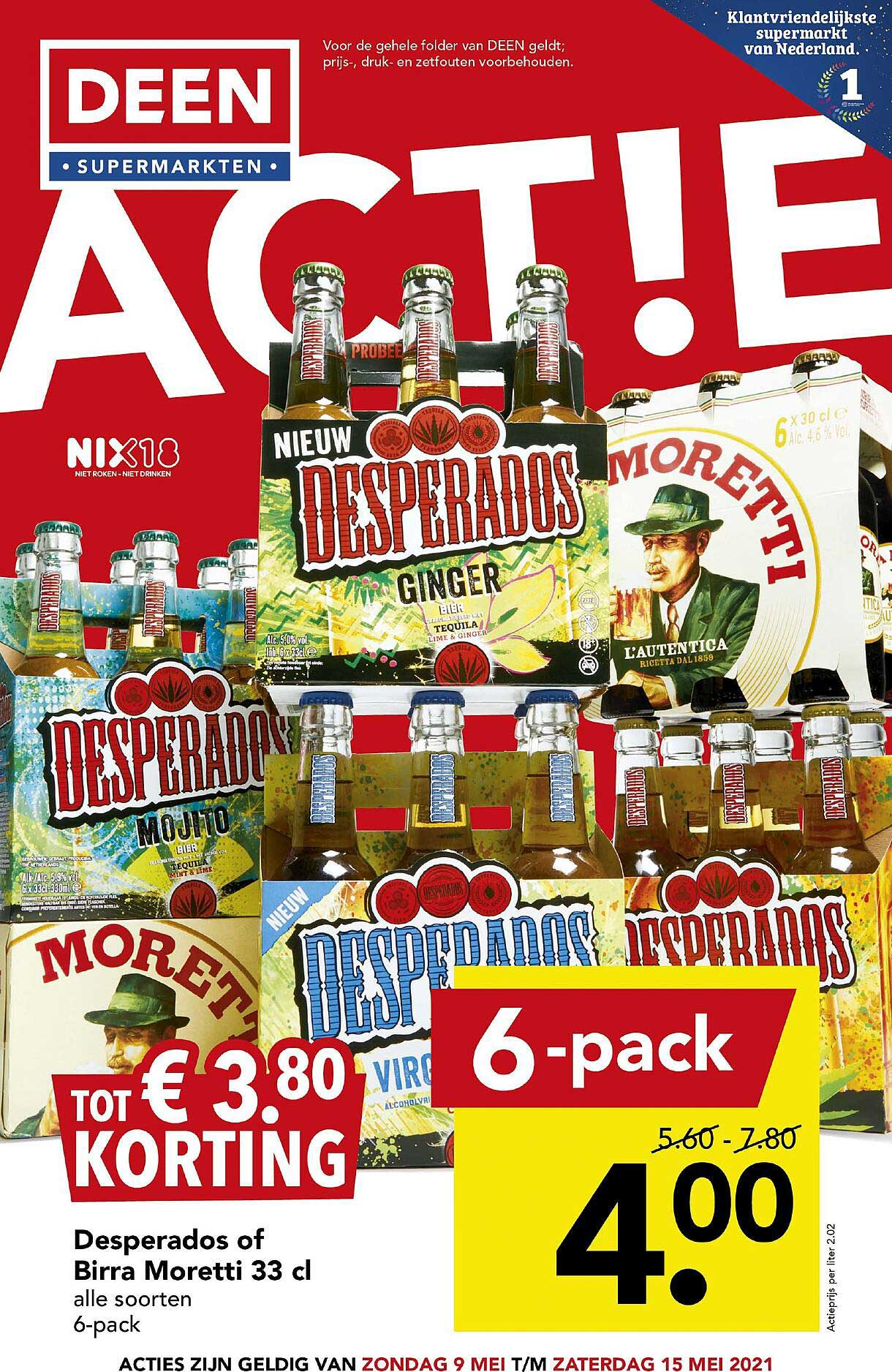 DEEN Desperados Of Birra Moretti 33 Cl Tot € 3.80 Korting