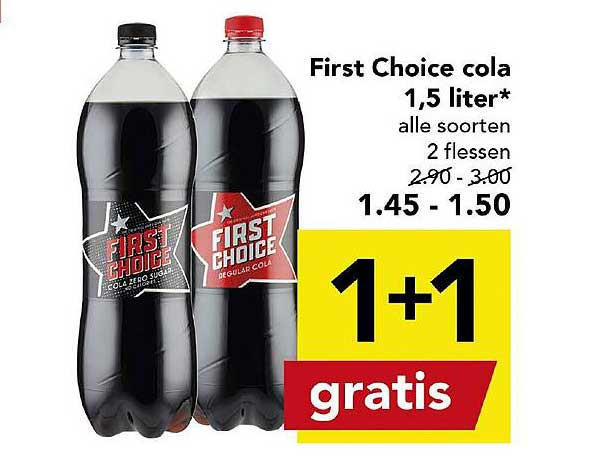DEEN First Choice Cola 1,5 Liter 1+1 Gratis