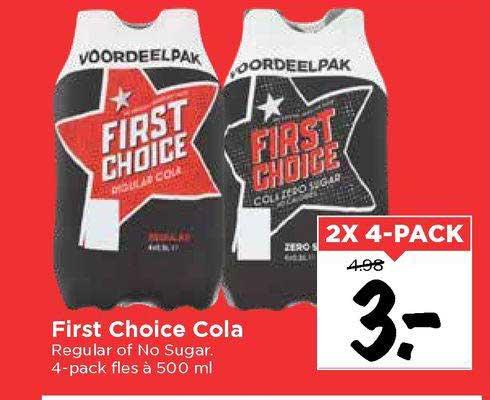 Vomar First Choice Cola Regular Of No Sugar
