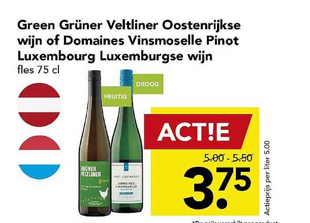 DEEN Green Grüner Veltliner Oostenrijkse Wijn Of Domaines Vinsmoselle Pinot Luxembourg Luxemburgse Wijn