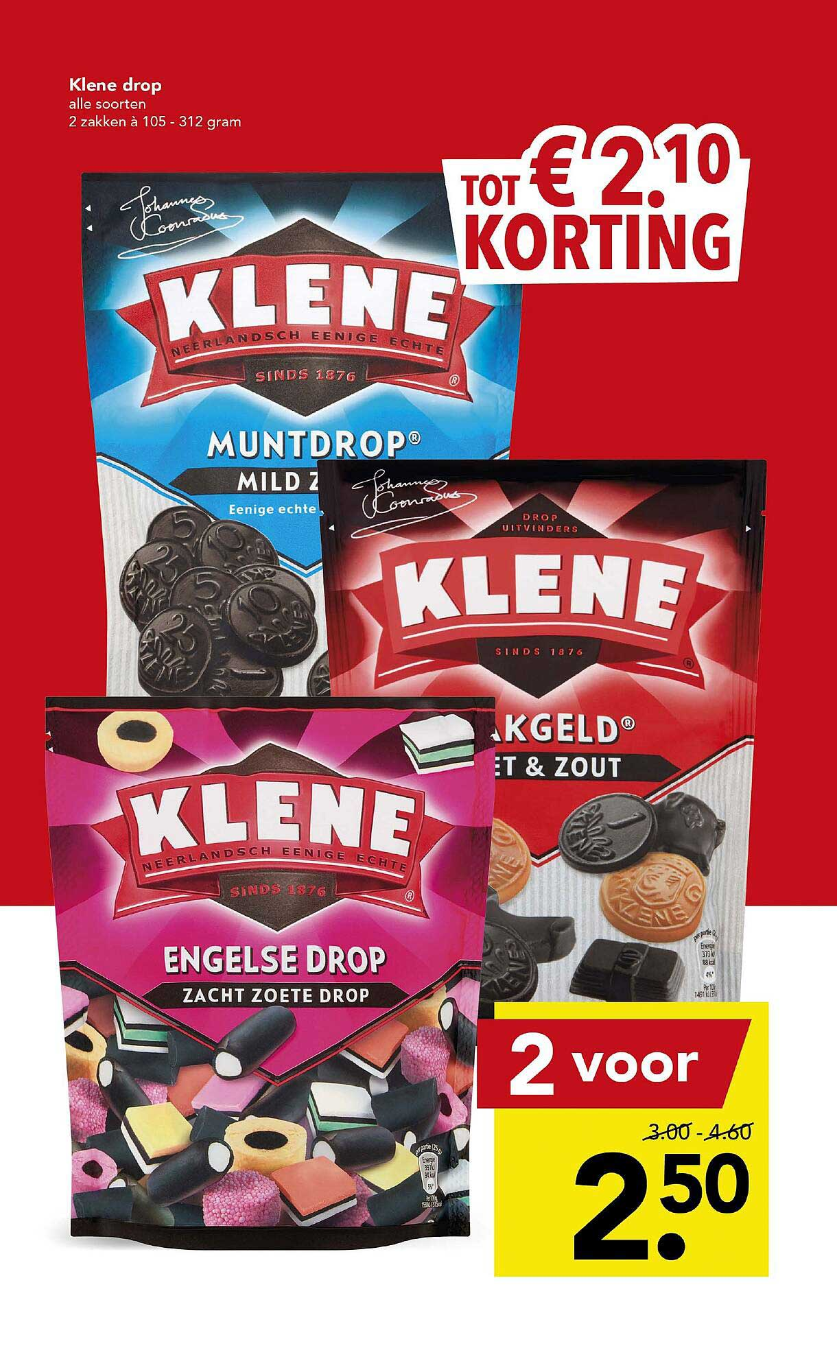 DEEN Klene Drop Tot € 2.10 Korting