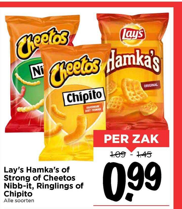 Vomar Lay's Hamka's Of Strong Of Cheetos Nibb-It, Ringlings Of Chipito