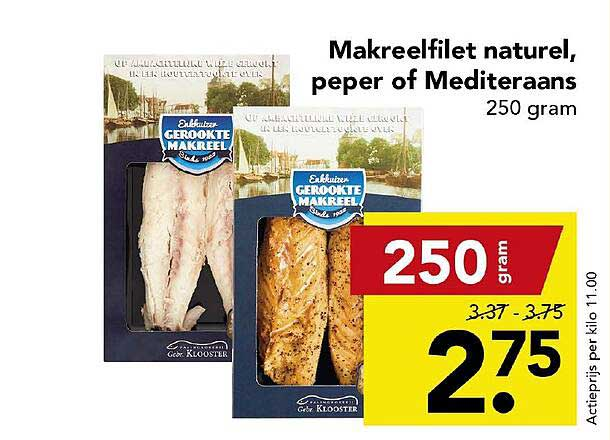 DEEN Makreelfilet Naturel, Peper Of Mediteraans