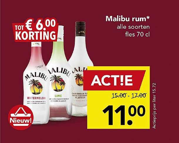 DEEN Malibu Rum Tot € 6.00 Korting