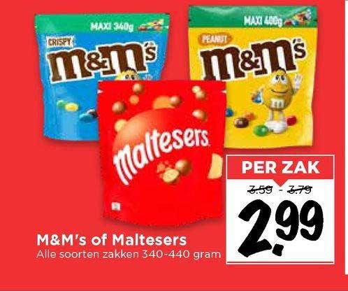 Vomar M&M's Of Maltesers
