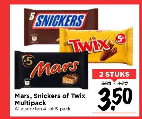 Vomar Mars, Snickers Of Twix Multipack