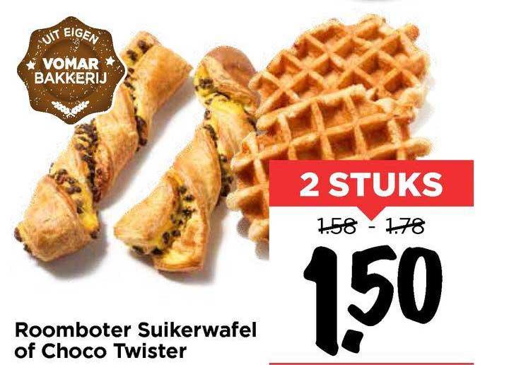 Vomar Roomboter Suikerwafel Of Choco Twister