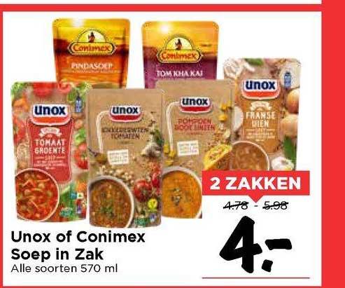 Vomar Unox Of Conimex Soep In Zak