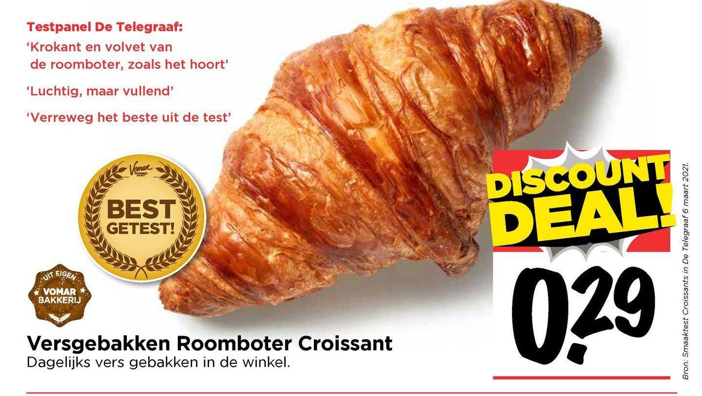 Vomar Versgebakken Roomboter Croissant