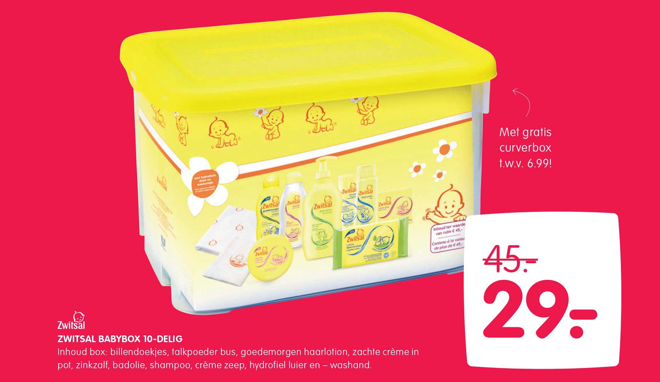 Prénatal Zwitsal Babybox 10 Delig Met Gratis Curverbox T.w.v. €6,99!