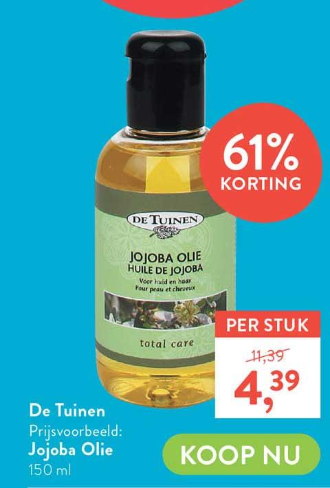 Holland & Barrett De Tuinen Jojoba Olie 61% Korting