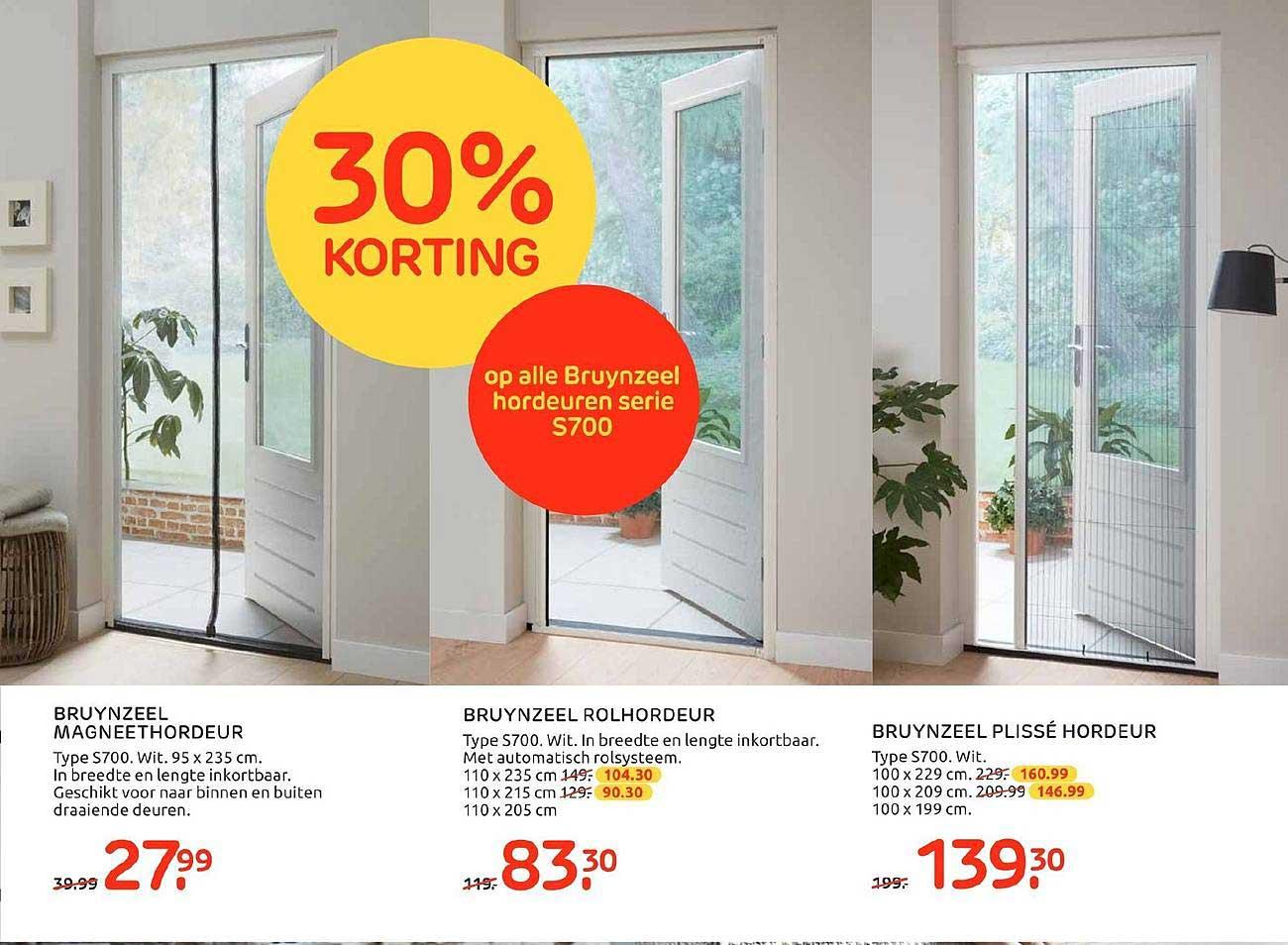 Praxis 30% Korting Op Alle Bruynzeel Hordeuren S700