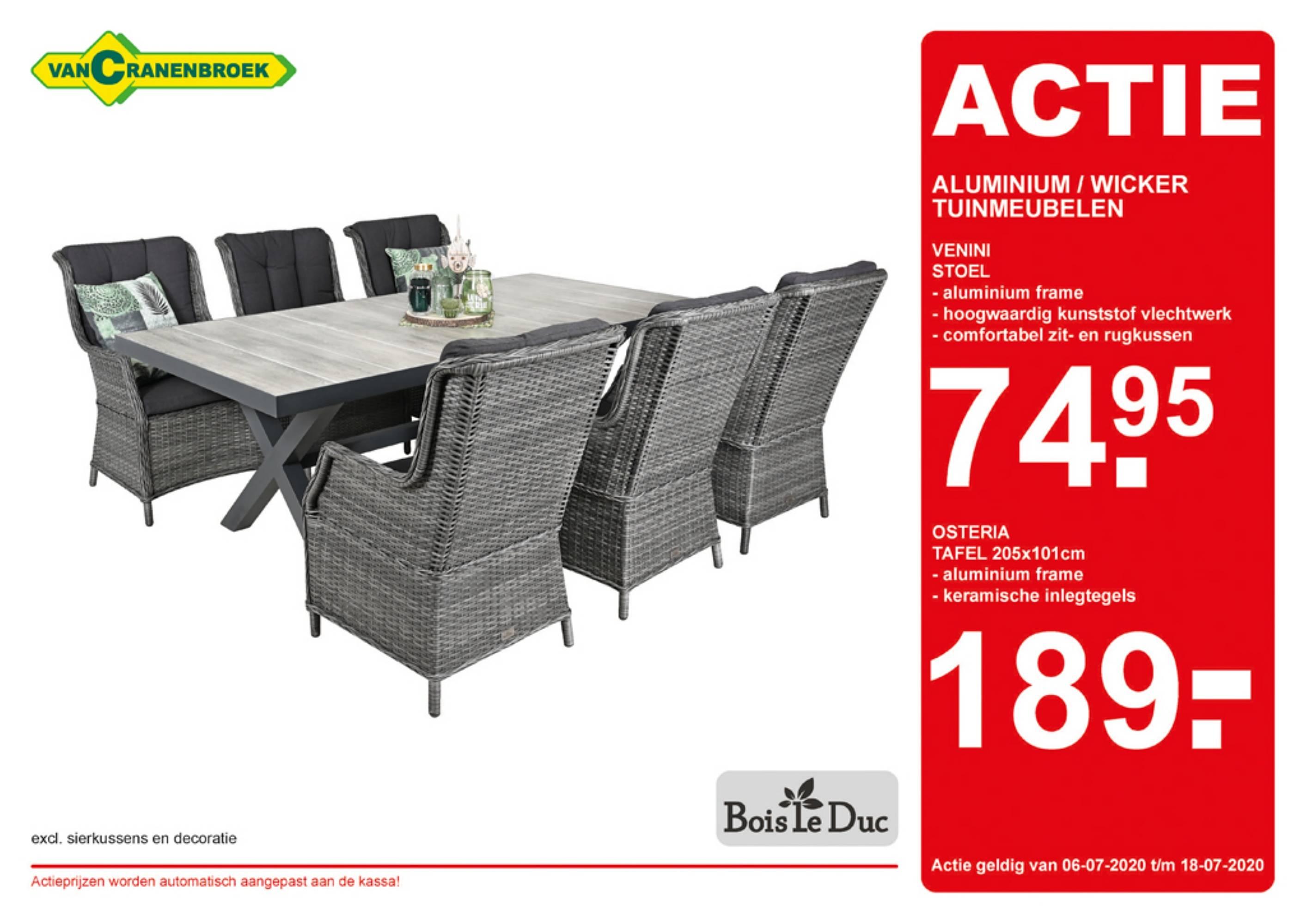 Van Cranenbroek Aluminium - Wicker Tuinmeubelen