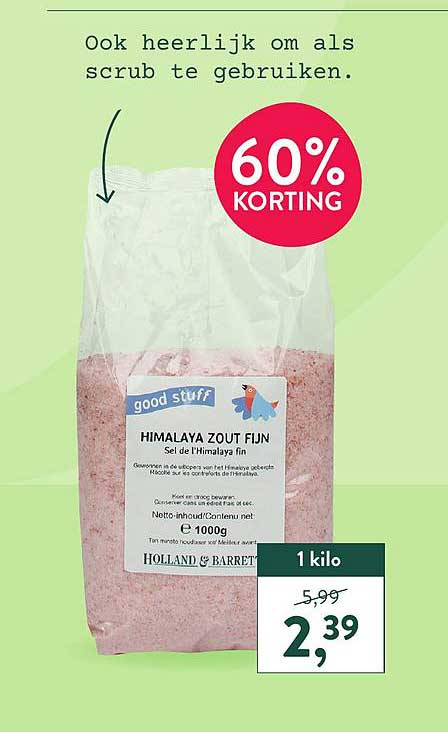 Holland & Barrett Holland & Barrett Himalaya Zout Fijn 60% Korting