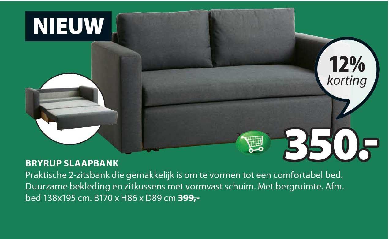Beter Bed Bedbank.Viborg Slaapbank 26 Korting Aanbieding Bij Jysk