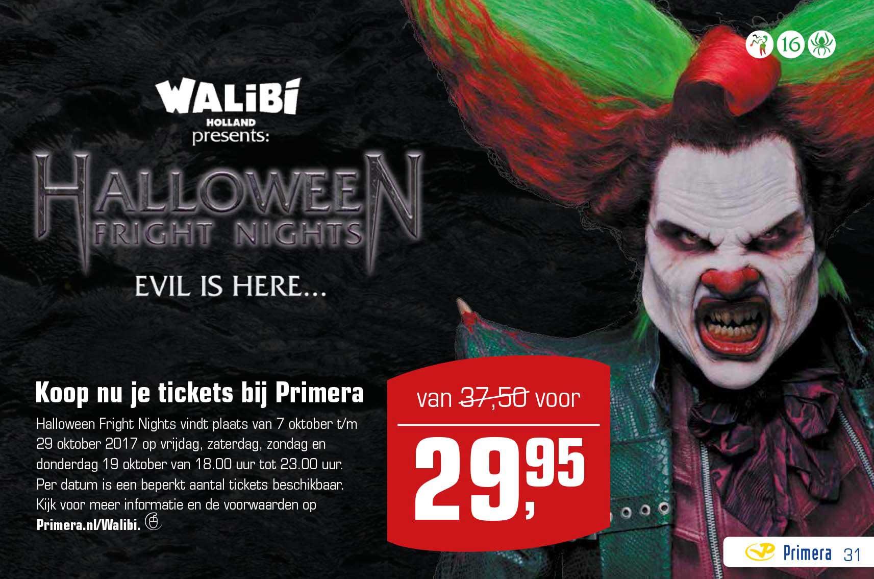 Primera Walibi Halloween Fright Nights Tickets: Van €37,50 Voor €29,95