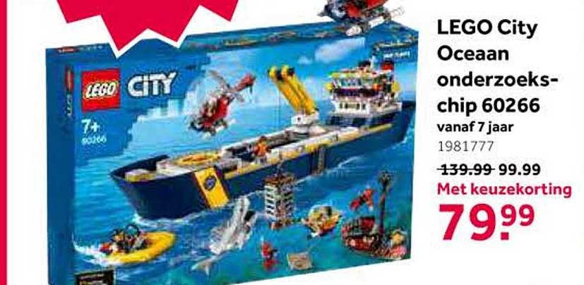 Intertoys LEGO City Oceaan Onderzoekschip 60266