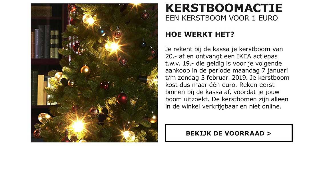 IKEA Kerstboomactie