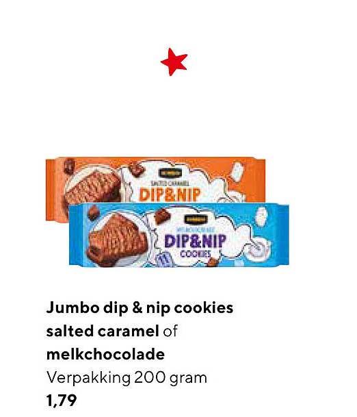 Jumbo Jumbo Dip & Nip Cookies Salted Caramel Of Melkchocolade