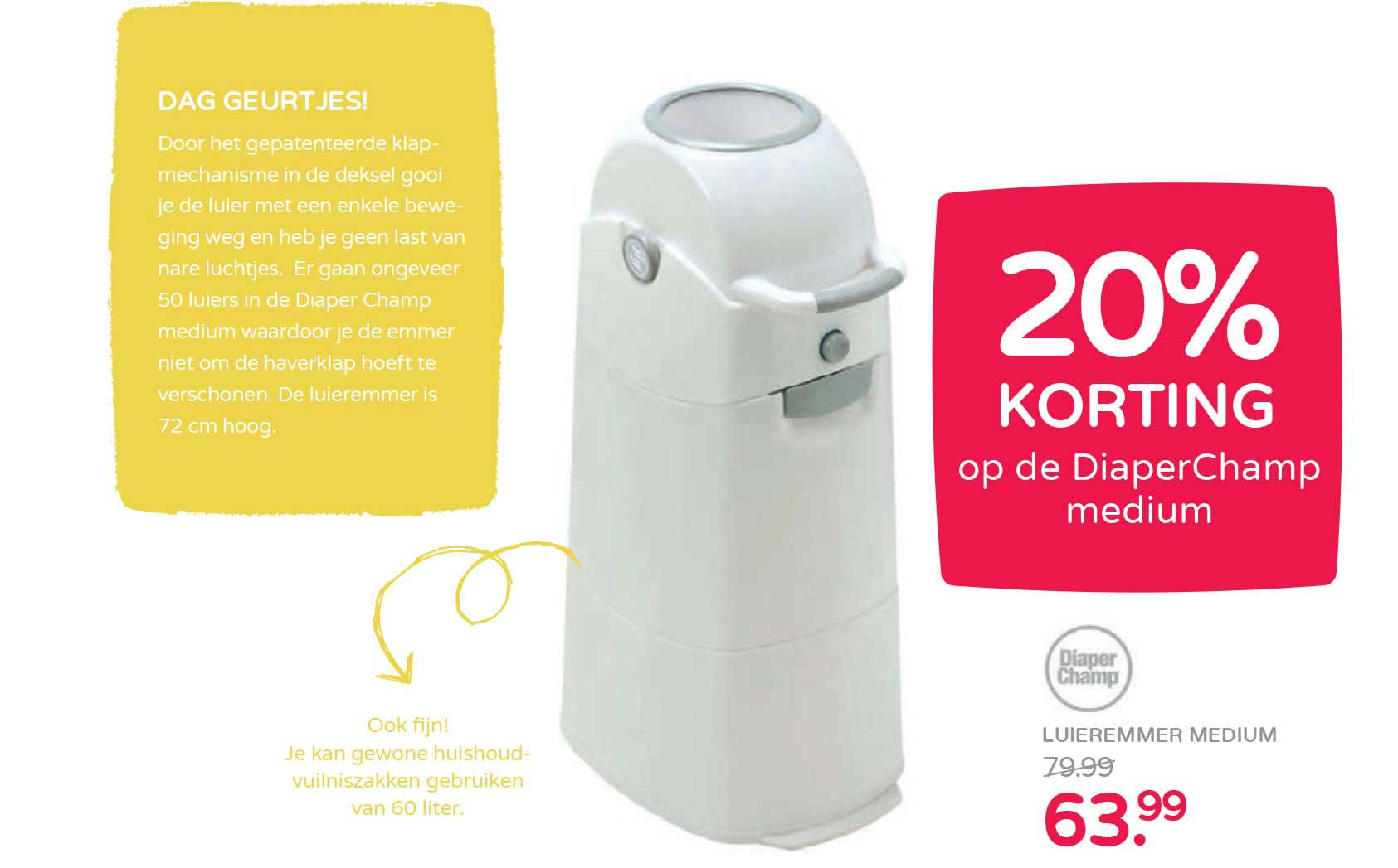 Prénatal 20% Korting Op Diaperchamp Medium