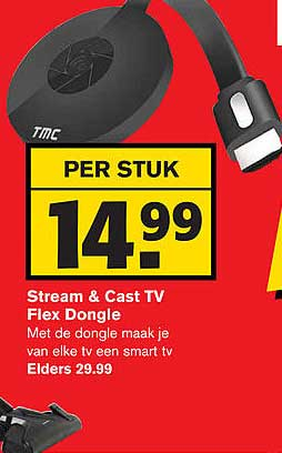 Hoogvliet Stream & Cast TV Flex Dongle