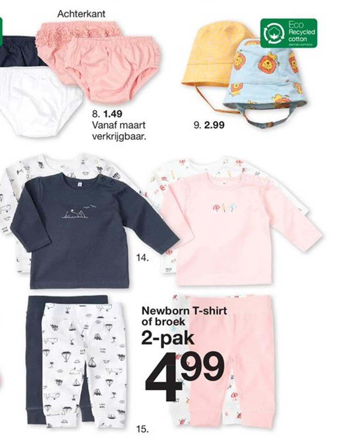 Zeeman Newborn T-Shirt Of Broek