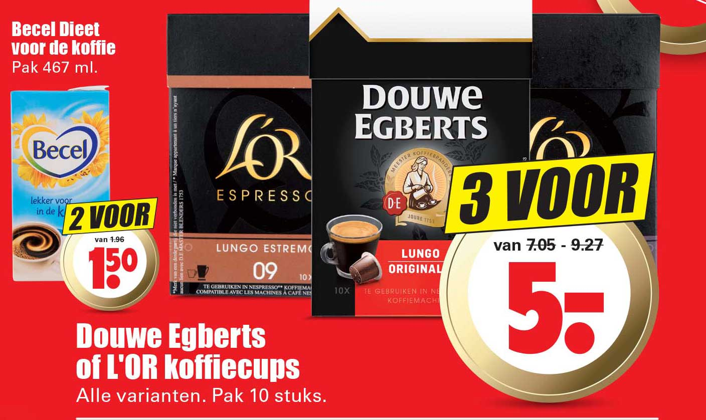 Dirk Douwe Egberts Of L'or Koffiecups