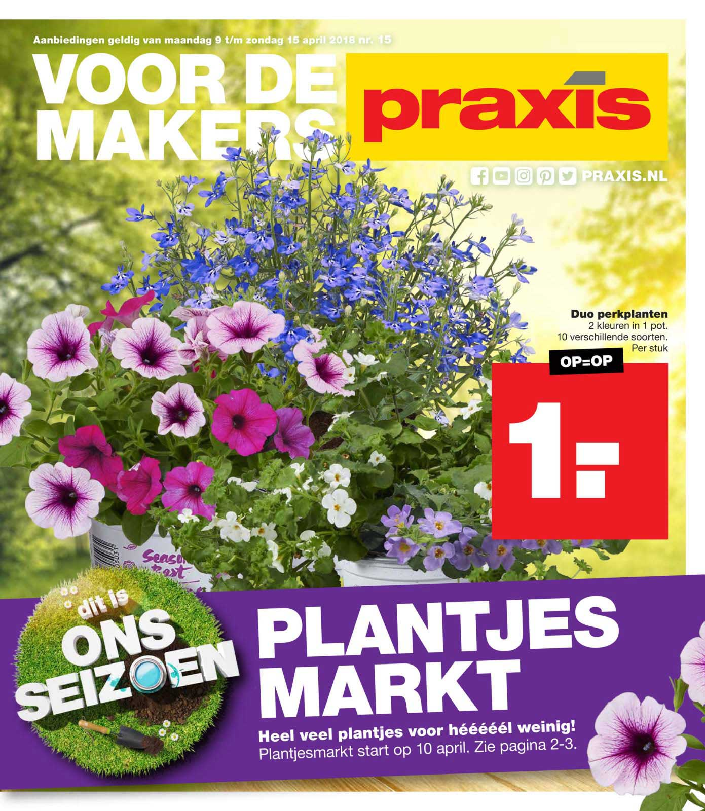 Praxis Duo Perkplanten: €1,-