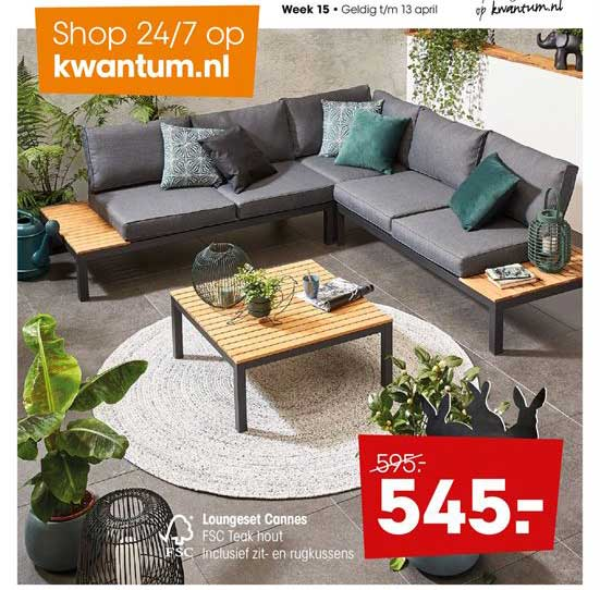 Kwantum Loungeset Cannes