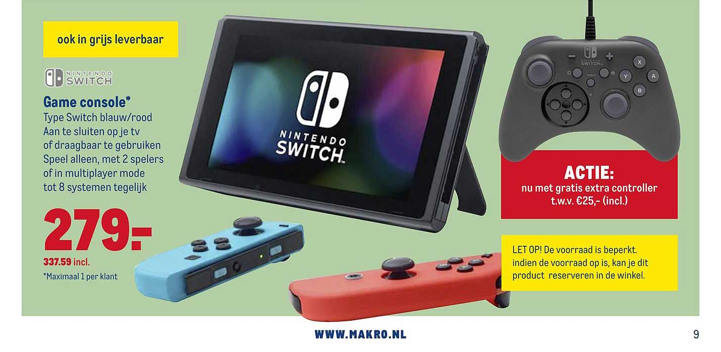 Makro Nintendo Switch Game Console