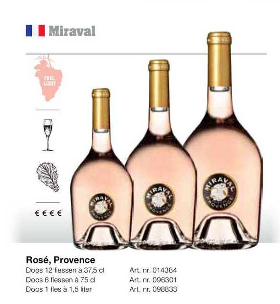 Bidfood Miraval Rosé, Provence