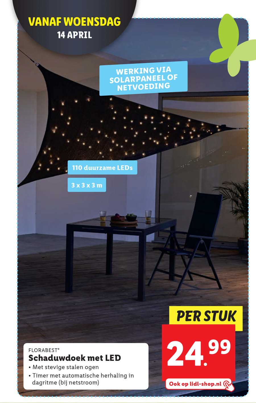 Lidl Schaduwdoek Met LED
