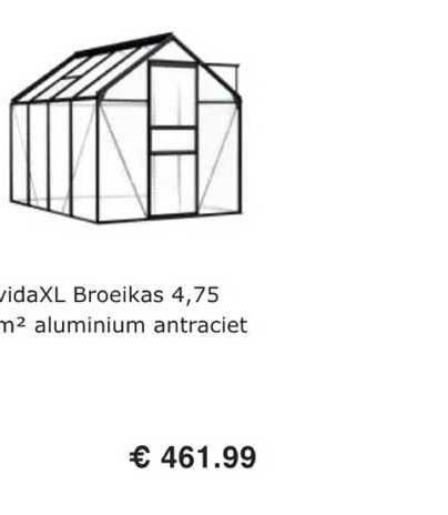 VidaXL VidaXL Broeikas 4.75 M² Aluminium Antraciet