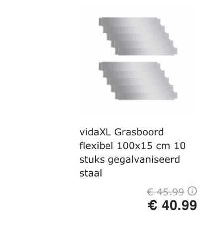 VidaXL VidaXL Grasboord Flexibel 100x15 Cm 10 Stuks Gegalvaniseerd Staal