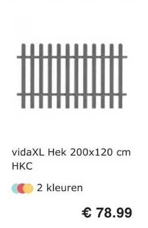 VidaXL VidaXL Hek 200x120 Cm HKC