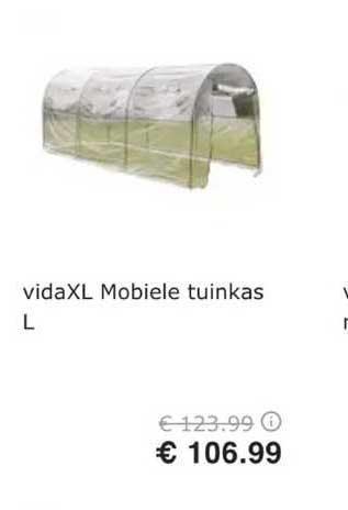 VidaXL VidaXL Mobiele Tuinkas L