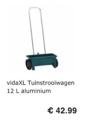 VidaXL VidaXL Tuinstrooiwagen 12 L Aluminium