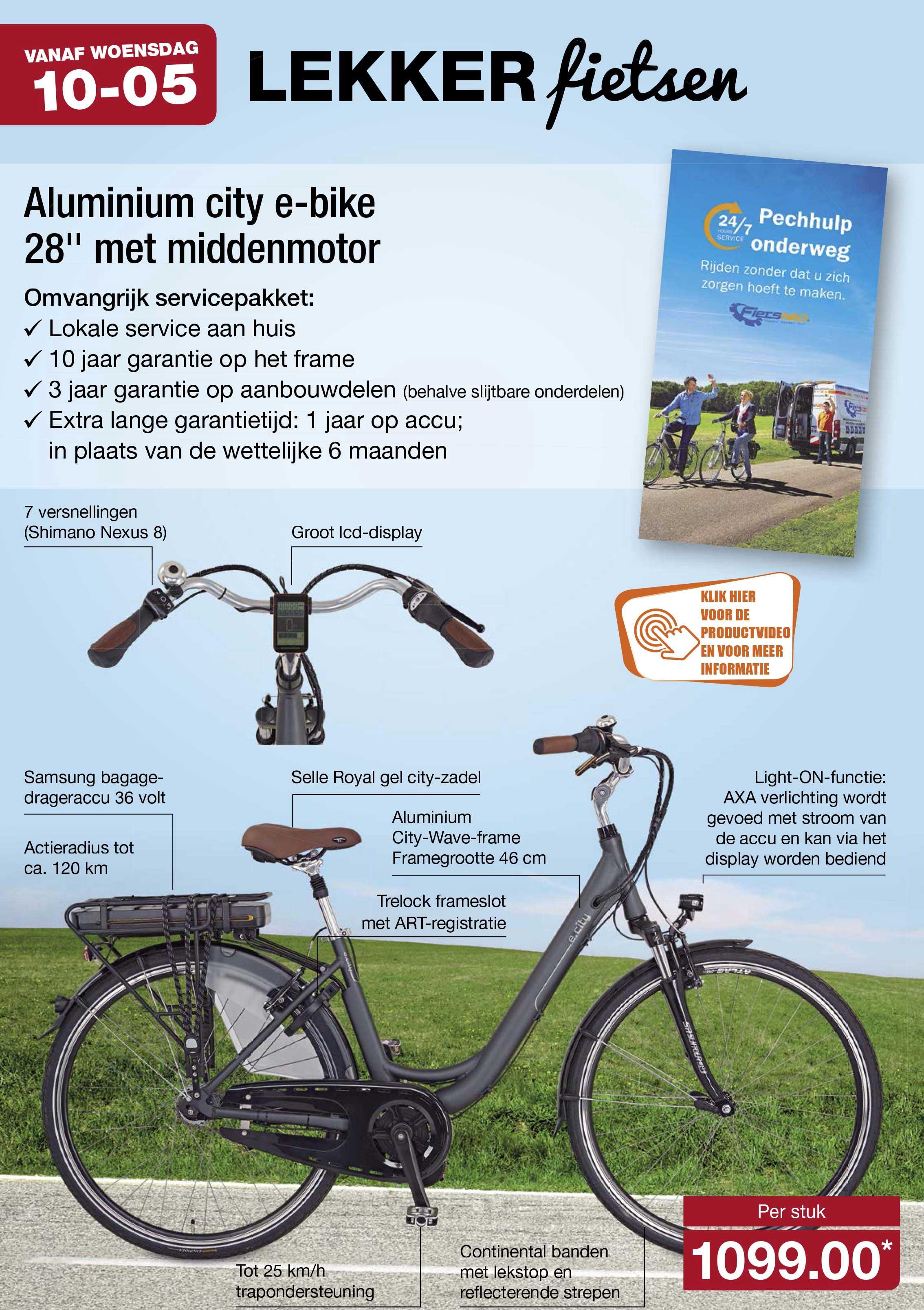 ALDI Aluminium City E-bike 28