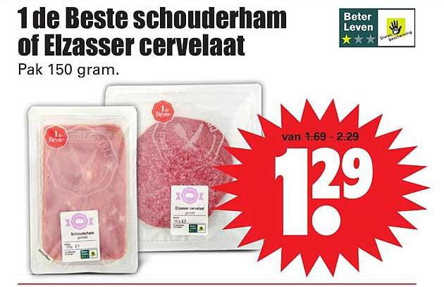 Dirk 1 De Beste Schouderham Of Elzasser Cervellat