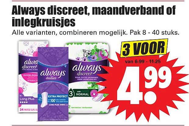Dirk Always Discreet, Maandverband Of Inlegkruisjes