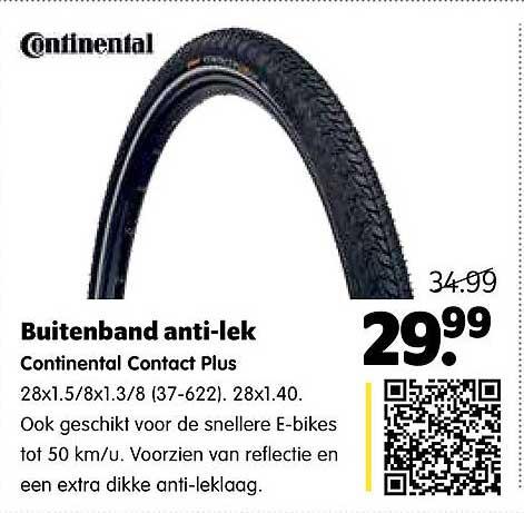 Plentyparts Buitenband Anti-Lek Continental Contact Plus
