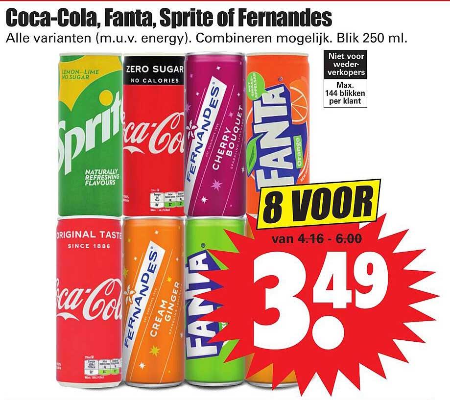 Dirk Coca-Cola, Fanta, Sprite Of Fernandes