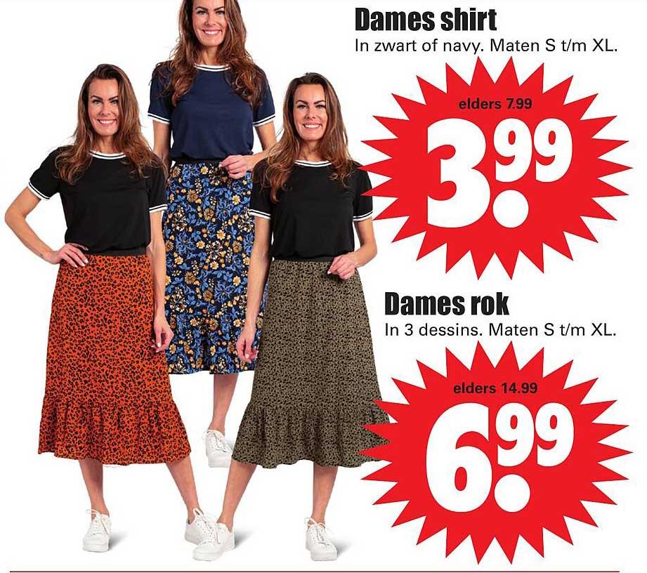 Dirk Dames Shirt Of Dames Rok