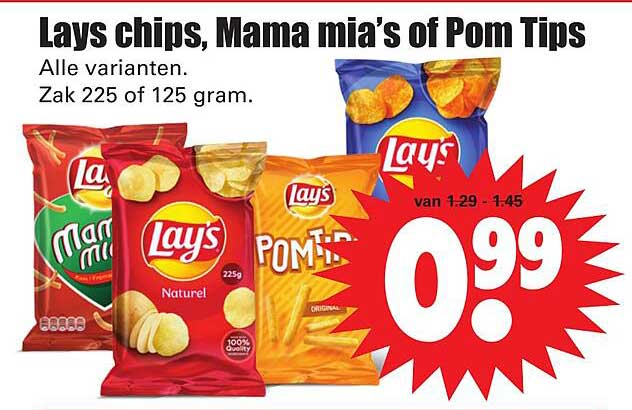 Dirk Lays Chips, Mama Mia's Of Pom Tips