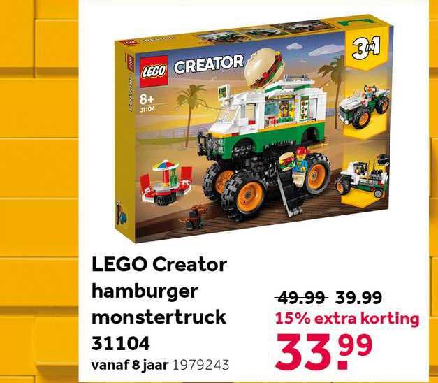 Intertoys Lego Creator Hamburger Monstertruck 31104 15% Extra Korting