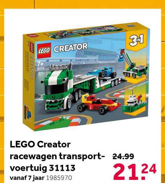 Intertoys Lego Creator Racewagen Transportvoertuig 31113