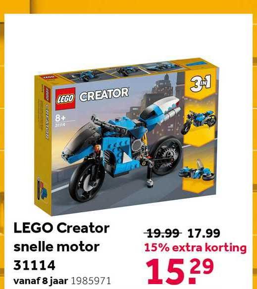 Intertoys Lego Creator Snelle Motor 31114 15% Extra Korting